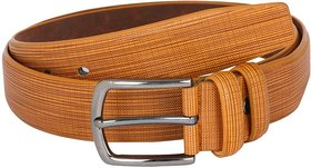 Heritage Men's Brown Clamp Buckle Leatherite Casual Belt