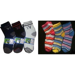 3 Pair of Gents  3 Pair of Ladies Socks