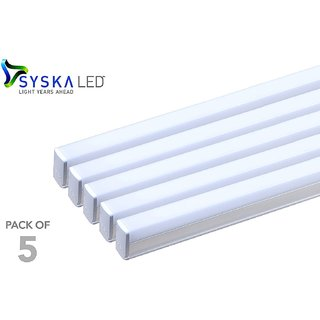 Syska 18 Watts T5 LED Tube Light (Pack of 5, Cool Day Light)