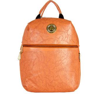 JG Shoppe Orange PU Backpack