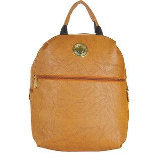 JG Shoppe Brown PU Backpack