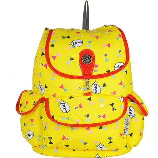 JG Shoppe Yellow Canvas Backpack