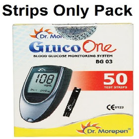 Dr. Morepen BG03 50 Test Strips Expiry JULY 2019 ONLY STRIPS