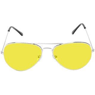 Yellow Uv Protection Aviator Unisex Sunglasses