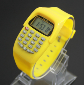 colorful Calculator Style Digital Watch for kids