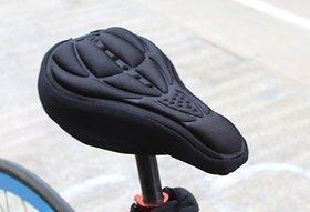 QD Cycling Bicycle Bike Silicone Saddle Cushion Soft Pad Seat Cover  Black