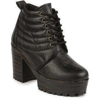 Do Bhai Womens Black Boots