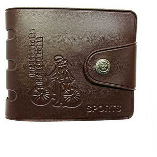 Stylish Brown cow boy wallet (Pack of 2) (Synthetic leather/Rexine)