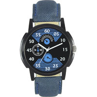 AKAG Men In Black Analogue Watch For Mens And Boys - AK
