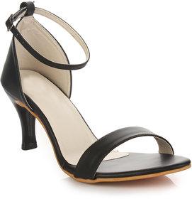 Do Bhai  Women's Black Heels