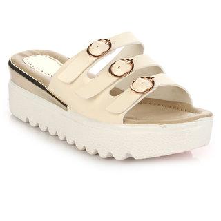 16de338660e Buy Do Bhai Women s Cream Heels Online - Get 2% Off