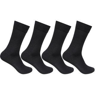 Bonjour Mens Multicolor Cotton Calf Length Socks Pack of 4
