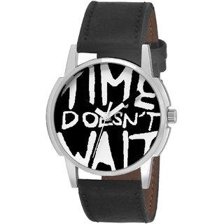 Timebre Men  Women Time Dont Wait Analog Watch