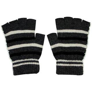 Tahiro Multicolour Woollen Half Finger Gloves For Women- Pack Of 1