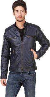 Ajeraa Men's Solid Full Sleeves Zipper Jacket