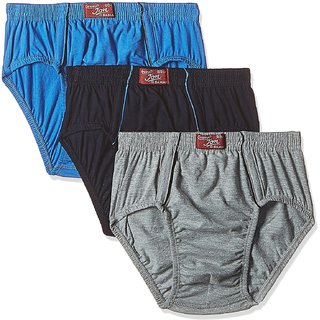 Rupa Jon Men's Cotton Brief (Pack of 3) (Colors May Vary)