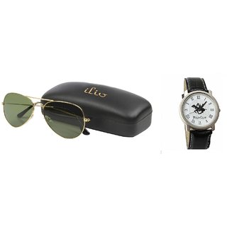 Classic Look Green Aviator And Polo Watch GS-116