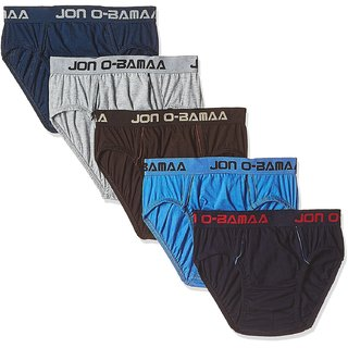 Rupa Jon Men's Cotton Brief (Pack of 5) (Colors May Vary)