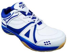Port Men's White Pu Sports Shoes