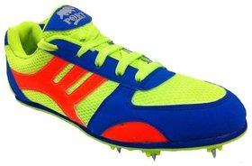 Port Men's Spike Plug Multi Color Pu Sports Shoes