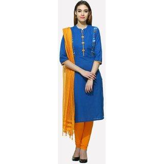 Aurelia Women's Blue Cotton Kurta