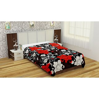 Style Maniac Polycotton Printed 1 Double Bedsheet with 2 Pillow Covers