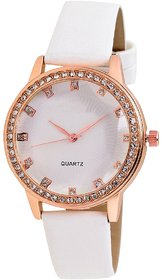 Orayan New White Colour White Dial Analogue Girls Watch - 130515344