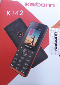 Karbonn K142 Dual SIM Basic Phone (Black Orange)