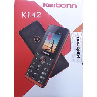 Karbonn K142 Dual SIM Basic Phone (Black Orange)