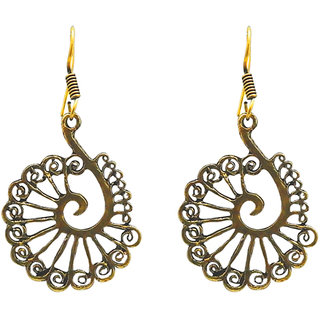 JewelMaze Antique Gold Plated Dangler Earrings
