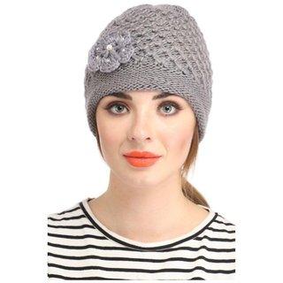 dcf78f93b6f Buy Tahiro Grey Woollen Cap - Pack OF 1 Online - Get 60% Off