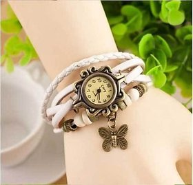 Best White Casual Analog Leather Women Wrist Watch (Ori