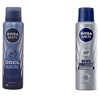 Buy 2 Nivea Men Silver Protect Deo Get 1 Nivea Cool Kick Deodorant Free
