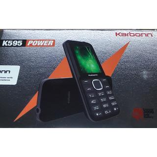 Karbonn K595 Dual SIM Basic Phone (Black Grey)