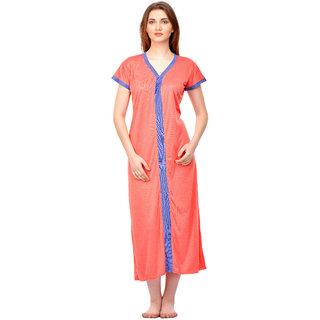 aedd61f4810 Buy Boosah Women s Orange Cotton Lycra Nighty Online - Get 71% Off