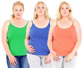 Phalin Multicolor Cotton Solid Camisole