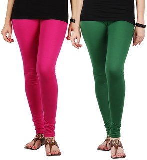 Beautiful cotton churidar leggings for girl and women size XXL set of 2 for party wear of BANDAY COLLECTIONS