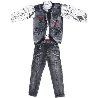 Boys Shirt Waistcoat and Jeans Set Party wear