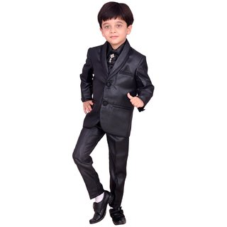 Boys Coat Suit with Shirt Pant and Tie - Party Wear