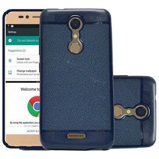 ECS Soft Back Case Cover With Camera protection For Micromax Selfie 2 Q4311 - Dark Blue