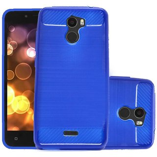 ECS Soft Matte Finish Line Back Case Cover For Gionee X1 - Dark Blue