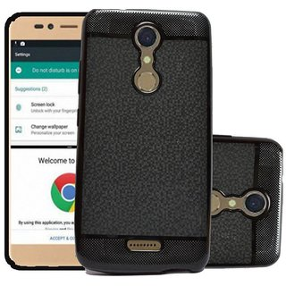 ECS Soft Back Case Cover With Camera protection For Micromax Selfie 2 Q4311 - Black