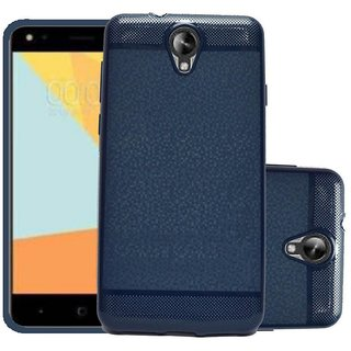 ECS Soft Back Case Cover With Camera protection For Micromax Bharat 4 Q440 - Dark Blue