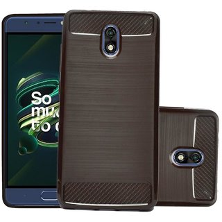 ECS Soft Back Case Cover With Camera protection For Micromax Bharat 4 Q440 - Brown