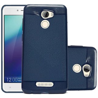ECS Soft Back Case Cover With Camera protection For Gionee A1 Lite - Dark Blue