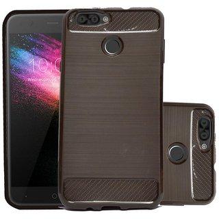 ECS Soft Matte Finish Back Case Cover For Karbonn K9 Smart Grand - Brown