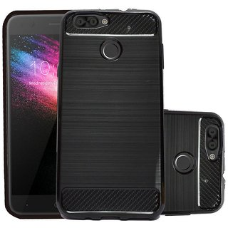 ECS Soft Matte Finish Back Case Cover For Karbonn K9 Smart Grand - Black