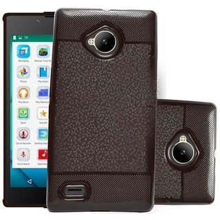 ECS Soft Back Case Cover With Camera protection For Micromax Canvas Amaze 4G Q491 - Brown