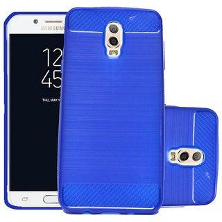 ECS Soft Matte Finish Back Case Cover For Samsung Galaxy J7 Plus - Dark Blue