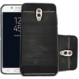 ECS Soft Matte Finish Back Case Cover For Samsung Galaxy J7 Plus - Black